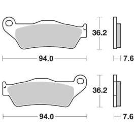 Pastiglie freno posteriore SBS 671 LS