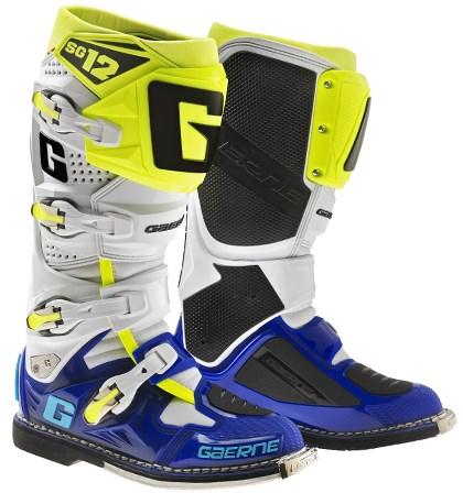 Gaerne Stivali SG12  White blue yellow