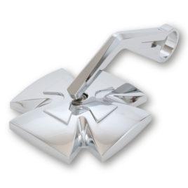Coppia specchi bar end HIGHSIDER IRON CROSS Argento