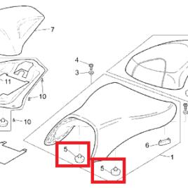 Gommini sella AP8126702 originali Piaggio-Aprilia-Moto Guzzi
