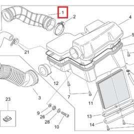 Manicotto carburatore cassa filtro Aprilia Mojito 125 AP8144212