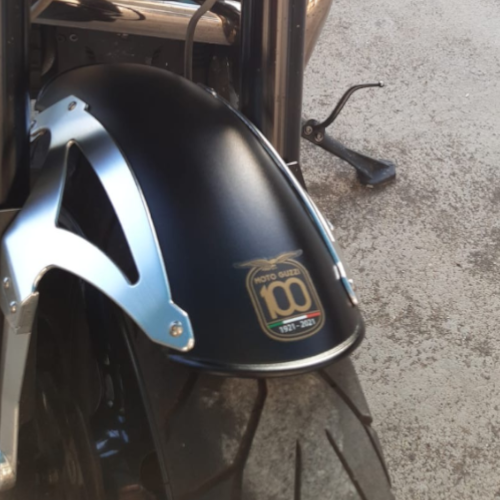 adesivo moto guzzi 100 anni